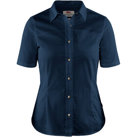 Fjällräven High Coast Stretch Shirt korte mouwen Dames, navy